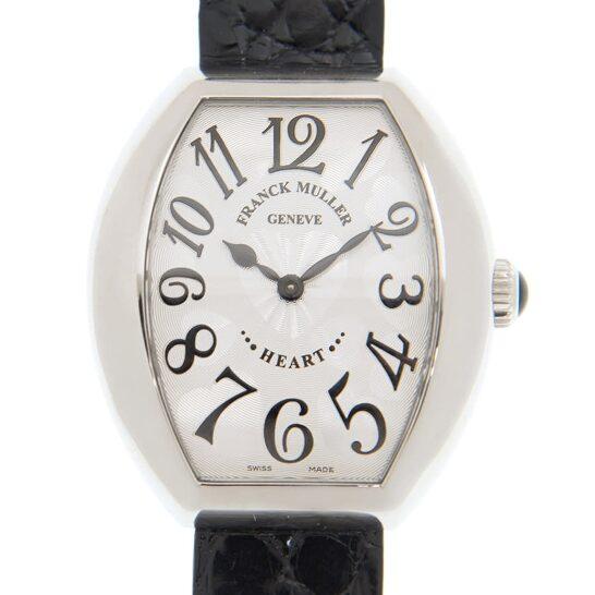 Franck Muller Heart Quartz Silver Dial Ladies Watch 5002MQZ(AC)-BLACK   Joma Shop