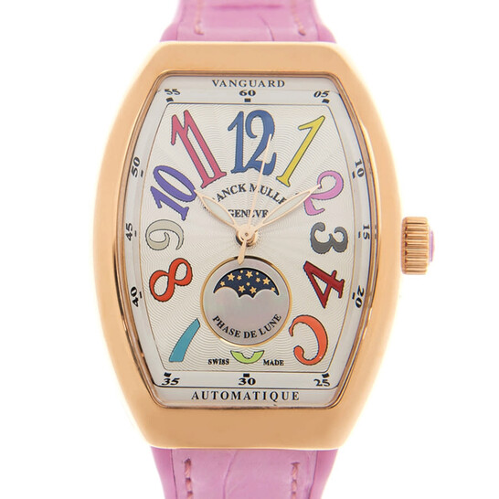 Franck Muller Vanguard Moonphase Automatic White Dial Ladies Watch V32SCATFOLCOLDRM(5NRS) | Joma Shop