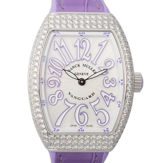 Franck Muller Vanguard Quartz Diamond White Dial Ladies Watch V32QZD(ACVL) | Joma Shop