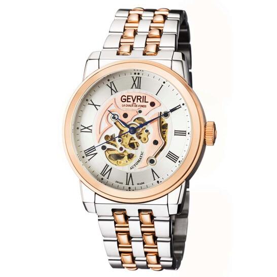 Gevril Vanderbilt Automatic Silver Dial Two-tone Men's Watch (2693)