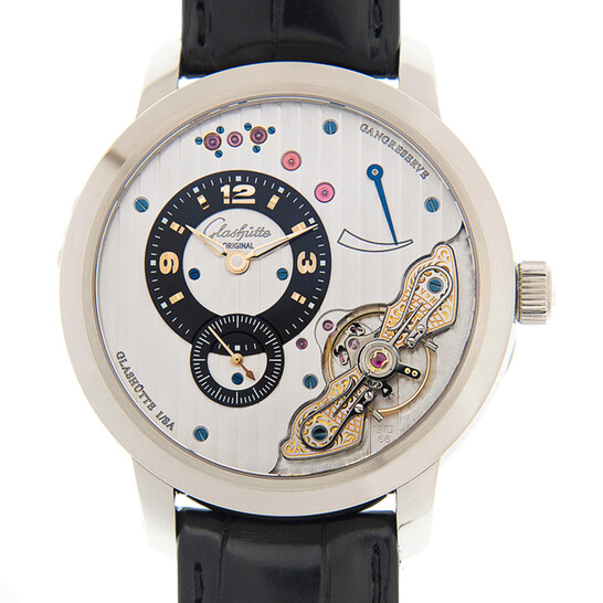 Glashutte Panoinverse Xl Hand Wind Silver Dial Unisex Watch 16601043405   Joma Shop