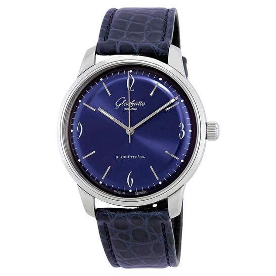 Glashutte Sixties Automatic Blue Dial Men's Watch 1-39-52-06-02-04   Joma Shop