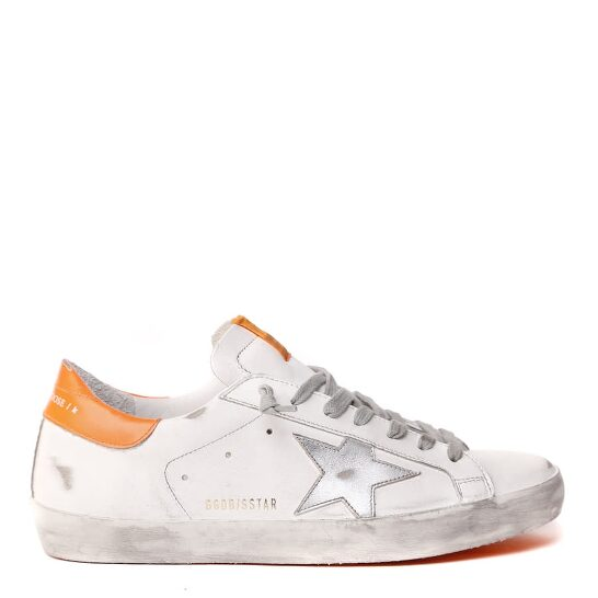 Superstar White and Orange Sneakers
