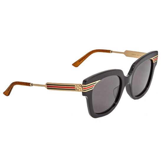 Gucci Grey Gradient Square Ladies Sunglasses GG0281SA 001 51