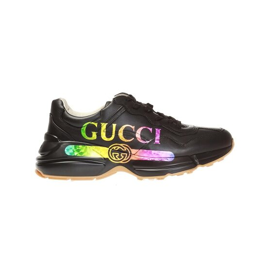 Gucci Rhyton Leather Sneaker With Gucci Logo, Brand Size 7.5 (US Size 8) | Joma Shop