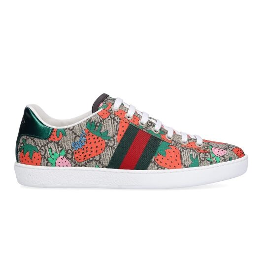 Gucci Women's Ace GG Gucci Strawberry Sneakers, Brand Size 36 (US Size 6)   Joma Shop