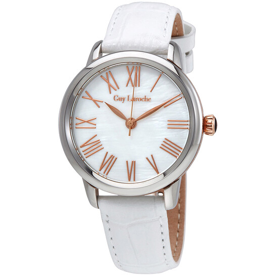 Guy Laroche Far East White Mother of Pearl Dial Ladies Watch L1010-04   Joma Shop