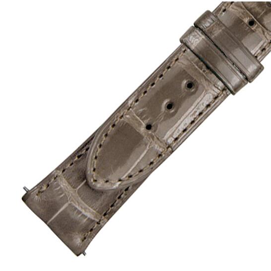 Hadley Roma 21 MM Shiny Grey Alligator Leather Strap   Joma Shop