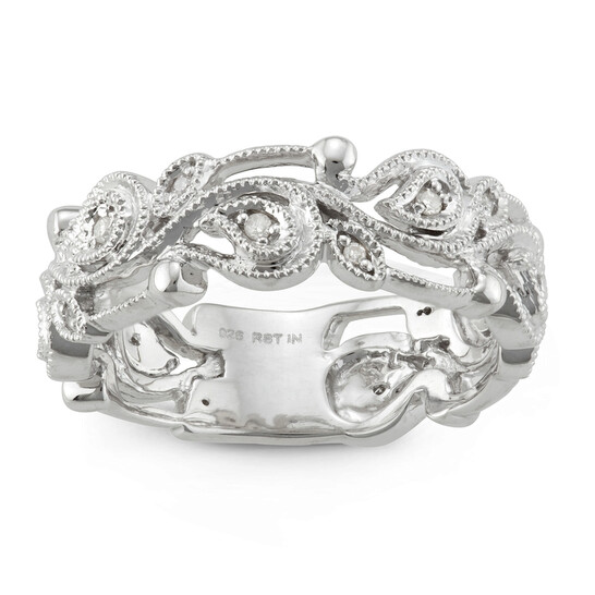 Hetal Diamonds 1/10 CTTW DIAMOND FASHION RING IN STERLING SILVER | Joma Shop