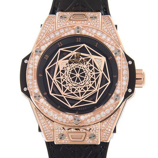Hublot Big Bang Sang Bleu Automatic Diamond Black Dial Ladies Watch 465.OS.1118.VR.1704.MXM18   Joma Shop