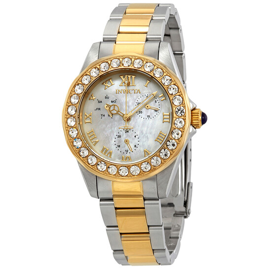 Invicta Angel Crystal White Mother of Pearl Dial Ladies Watch 28464 | Joma Shop