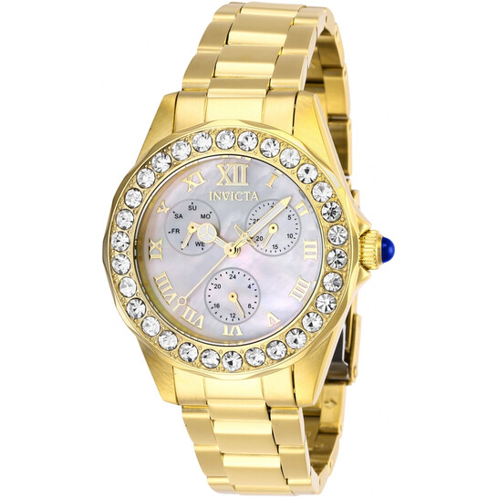 Invicta Angel Crystal White Mother of Pearl Dial Ladies Watch 28465   Joma Shop