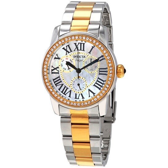 Invicta Angel Crystal White Mother of Pearl Dial Ladies Watch 28471 | Joma Shop