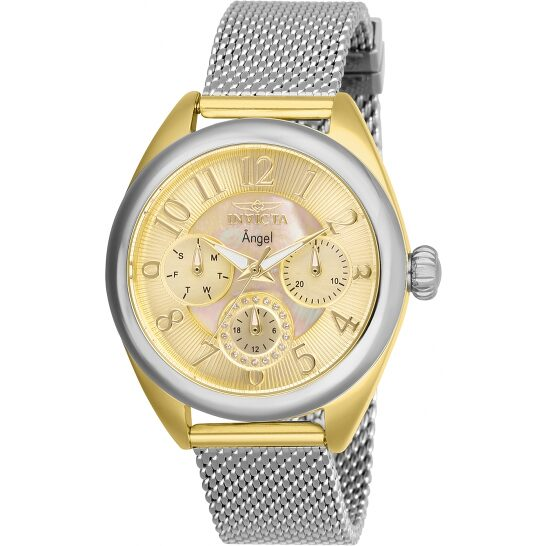 Invicta Angel Gold Dial Stainless Steel Mesh Ladies Watch 27451 | Joma Shop