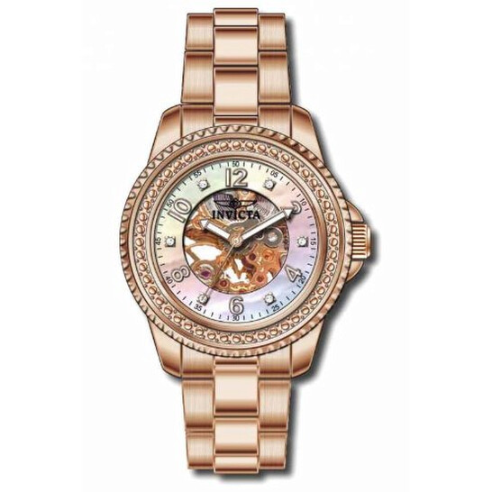 Invicta Angel Mechanical Rose Gold-plated Ladies Watch 16705   Joma Shop