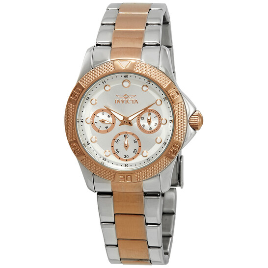 Invicta Angel Multi-Function Silver Dial Two-tone Ladies Watch 21762 | Joma Shop