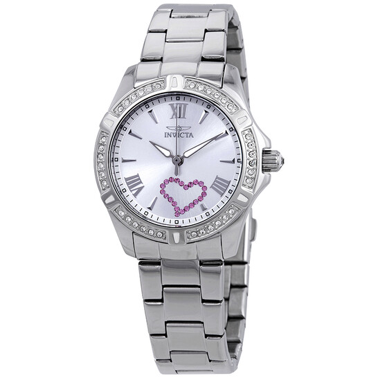 Invicta Angel Silver Dial Stainless Steel Ladies Watch 21416 | Joma Shop