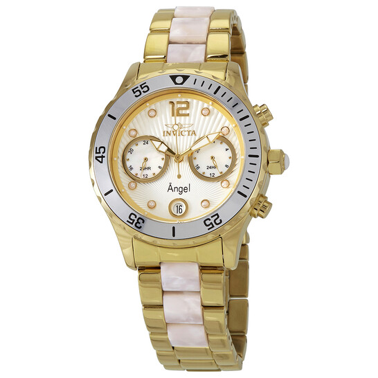Invicta Angel Silver Mother of Pearl Dial Quartz Ladies Watch 24702 | Joma Shop