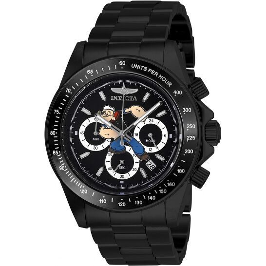 Invicta Character Collection Popeye Chronograph Black Dial Men's Watch 27413   Joma Shop