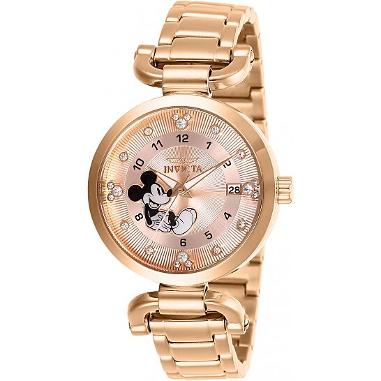 Invicta Disney Limited Edition Mickey Mouse Crystal Gold Dial Ladies Watch 27292   Joma Shop