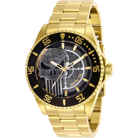 Invicta Marvel Punisher Black Dial Men's Watch 29694 | Joma Shop
