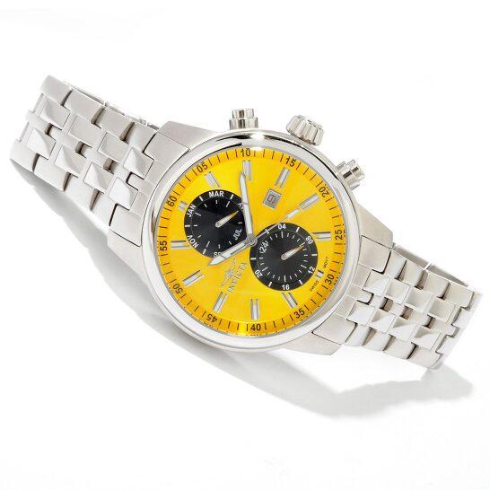 Invicta Men's Yellow Dial Quartz Chronograph Watch 0249   Joma Shop