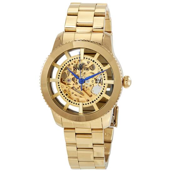 Invicta Objet D Art Automatic Gold Skeleton Dial Men's Watch 27551   Joma Shop
