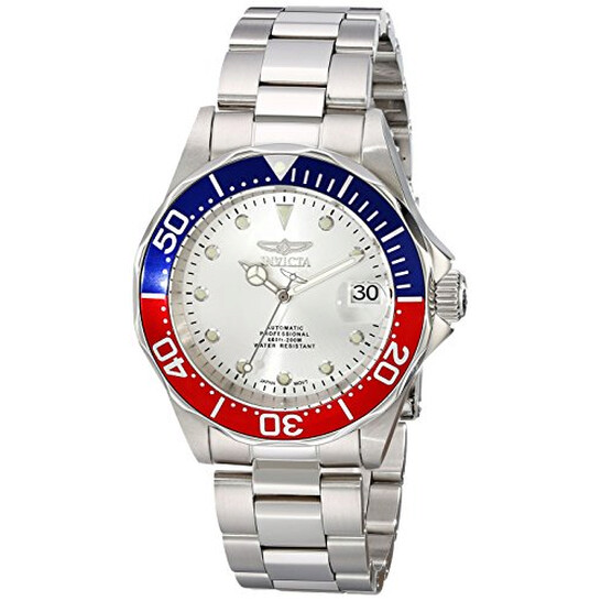 Invicta Pro Diver Automatic Silver Dial Stainless Steel Pepsi Bezel Men's Watch 17041 | Joma Shop