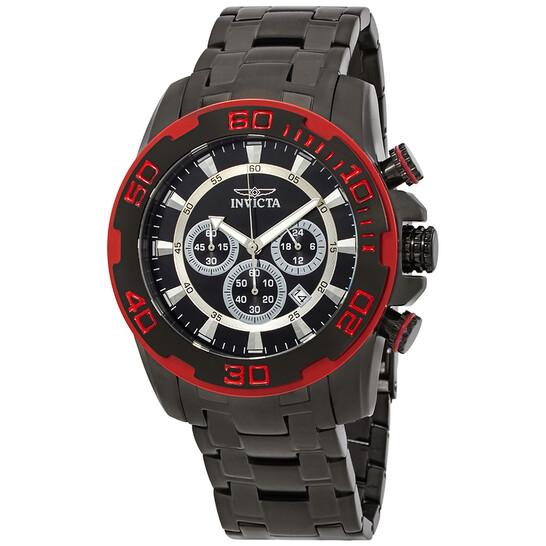Invicta Pro Diver Chronograph Black Dial Men's Watch 22323   Joma Shop