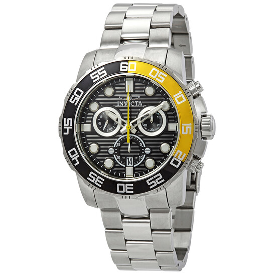 Invicta Pro Diver Chronograph Black Dial Stainlwaa Steel Men's Watch 21553 | Joma Shop