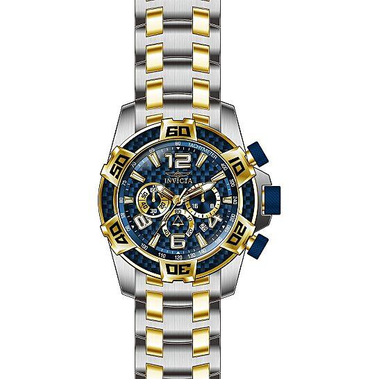 Invicta Pro Diver Chronograph Blue Glass Fiber Dial Men's Watch 25855   Joma Shop