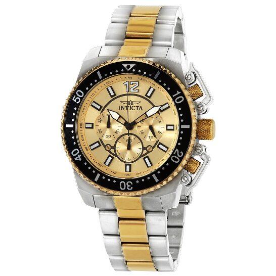 Invicta Pro Diver Chronograph Gold Dial Men's Watch 21955 | Joma Shop