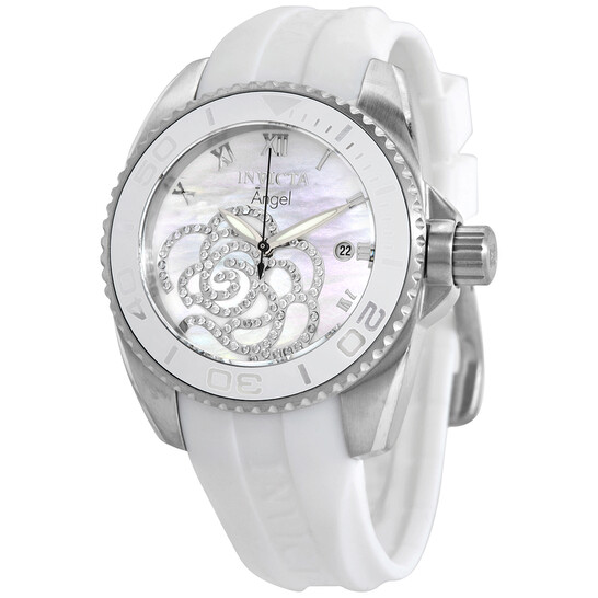 Invicta Pro Diver White Mother of Pearl Dial Ladies Watch 28676 | Joma Shop