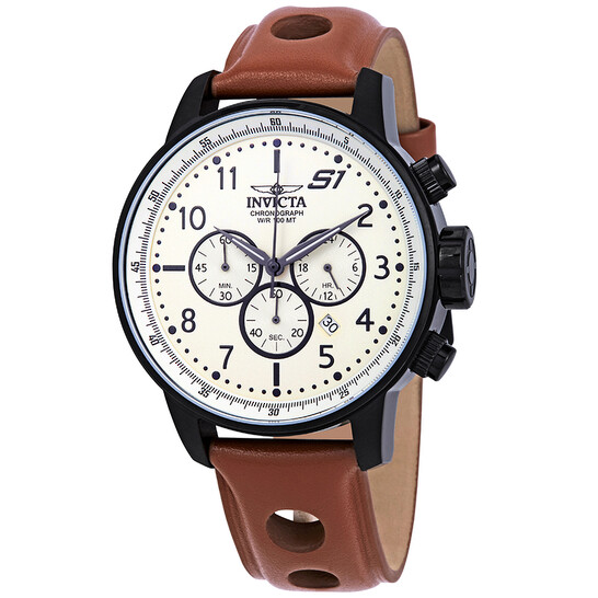 Invicta S1 Rally Chronograph Ivory Dial Men's Watch 23109 | Joma Shop