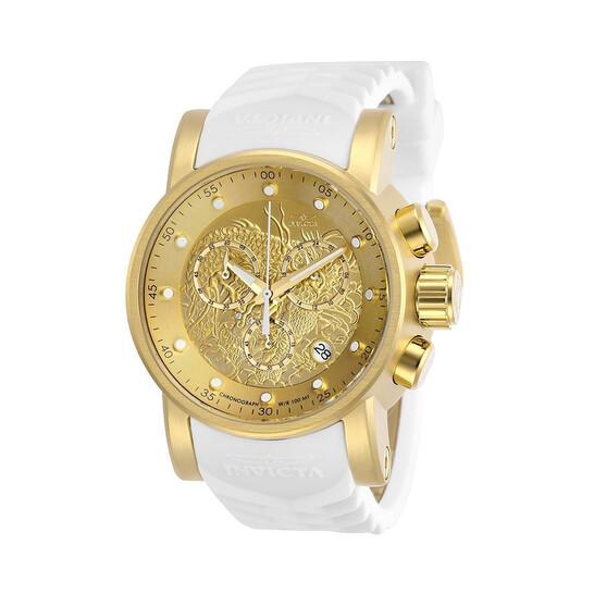 Invicta S1 Rally Dragon Chronograph Quartz Gold Dial Men's Watch 28189 | Joma Shop