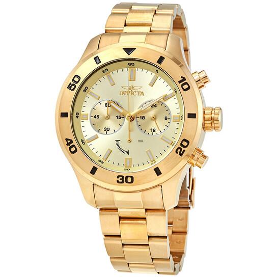 Invicta Specialty Chronograph Quartz Gold Dial Men's Watch 28887 | Joma Shop