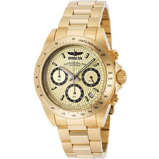 Invicta Speedway Chronograph Gold Dial Men's Watch 14929 | Joma Shop