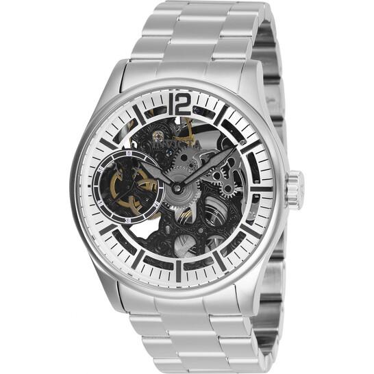 Invicta Vintage Silver-tone Exo-Skeletal Dial Men's Watch 27565 | Joma Shop