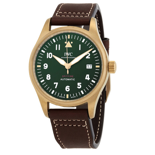 Iwc Pilot Spitfire Automatic Green Dial Men's Watch IW326802 | Joma Shop