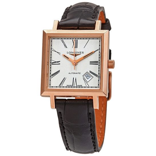 Longines Heritage 18kt Rose Gold Automatic Silver Dial Ladies Watch L2.292.8.71.0 | Joma Shop