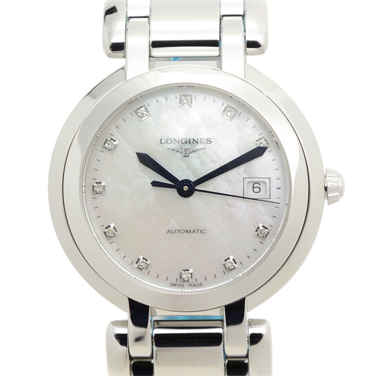 Longines Primaluna Automatic Diamond White Mother of Pearl Dial Ladies Watch L8.113.4.87.6 | Joma Shop