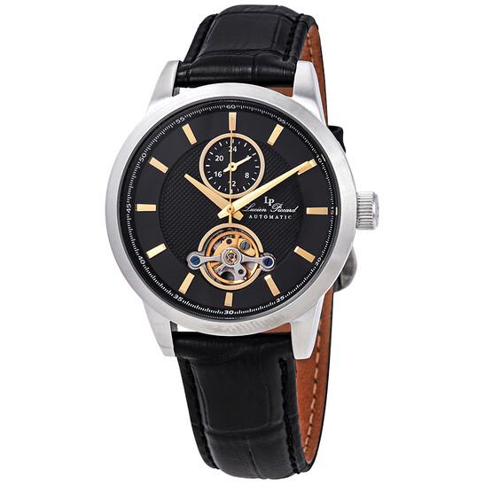 Lucien Piccard Open Heart GMT Automatic Black Dial Men's Watch LP-28007A-01-GA | Joma Shop