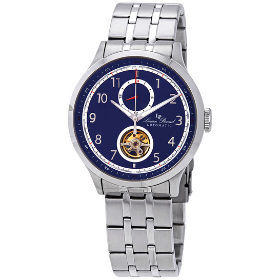 Lucien Piccard Open Heart GMT II Automatic Blue Dial Men's Watch LP-28010A-33   Joma Shop