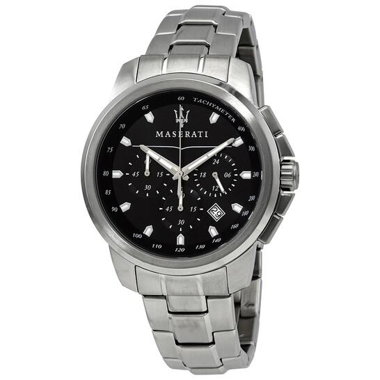 Maserati Successo Chronograph Black Dial Men's Watch R8873621001   Joma Shop