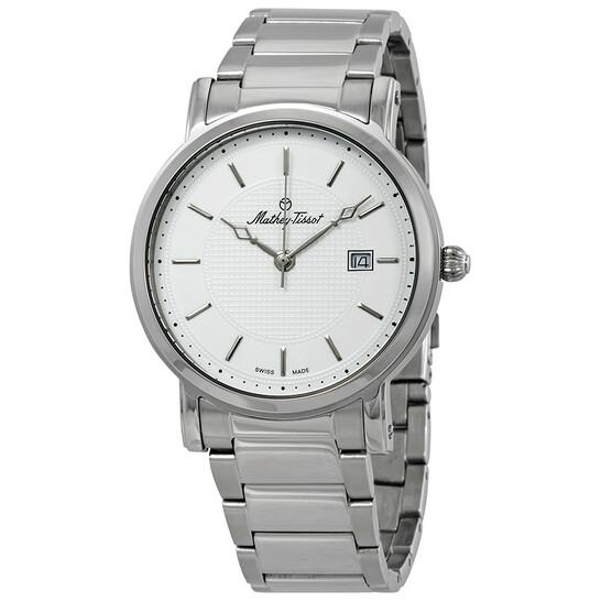 Mathey-Tissot City Metal White Dial Men's Watch HB611251MAI | Joma Shop