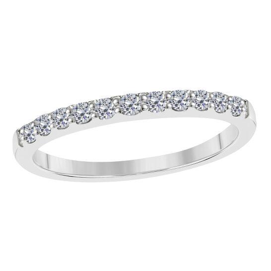 Maulijewels 10K White Gold 0.50 Carat Diamond Wedding Band | Joma Shop