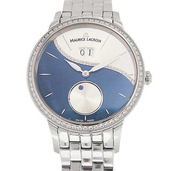 Maurice Lacroix Automatic Diamond Blue Dial Unisex Watch SD6207-SD502-450   Joma Shop