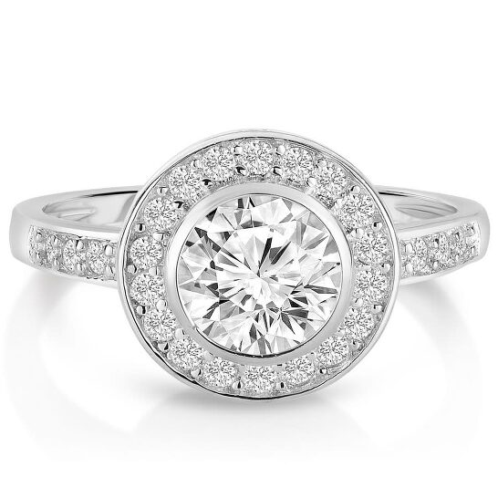 Megan Walford Sterling Silver Clear Cubic Zirconia Engagement Ring | Joma Shop
