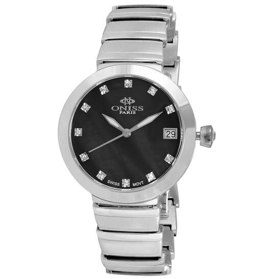 Oniss ON5559SS Quartz Black Dial Ladies Watch ON5559SSLBK | Joma Shop