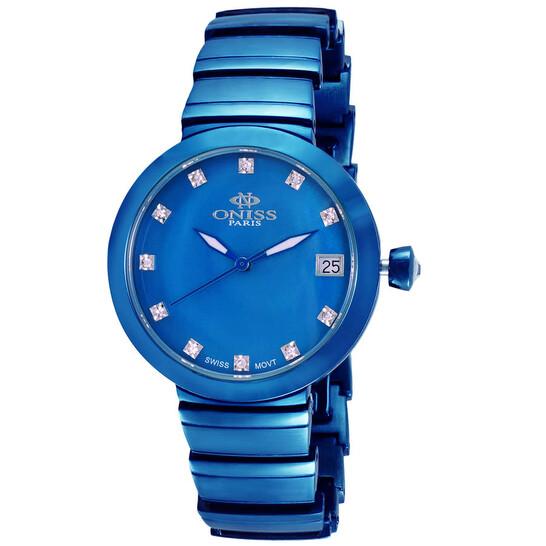 Oniss ON5559SS Quartz Blue Dial Ladies Watch ON5559SSIPBU   Joma Shop